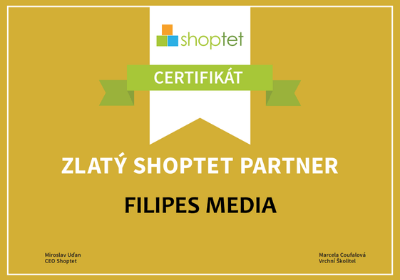 Marketingová agentura - FILIPES MEDIA - certifikace, zlatý shoptet partner, marketing pro e-shopy, PPC reklama, SEO